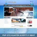 oto kuaför web sitesi mavi