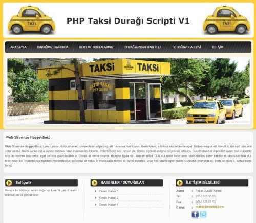 Taksi Durağı Sitesi